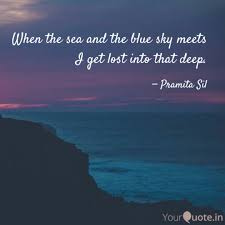 when the sea and the blue quotes writings by pramita sil