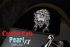 Jesus Black Pearl Mop Sticker Vinyl Decal For Any Guitar And Bass Body Ebay