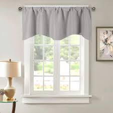 Amazon Com Grey Kitchen Blackout Valances For Windows Kids Room Window Treatments Thermal Insulated Rod Pocket Valance Curtains Room Darkening Cafe Drapes And Curtains For Nursery Living Room 52 X 18 Inch Furniture