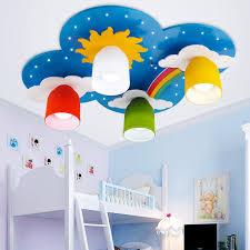 Surface Mounted Children Ceiling Lamps Kids Bedroom Cartoon Rainbow Decoration Chandelier Light E27 Light Source Children Ceiling Lamp Ceiling Lampchildren Ceiling Aliexpress