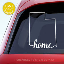 Amazon Com Utah State Home Decal Ut Home Car Vinyl Sticker Add A Heart Over Salt Lake City West Vally City Provo Ogden Orem Made With Outdoor Vinyl Handmade