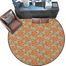 round rug kid carpet earth tones