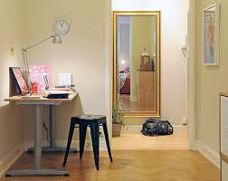 home office and study area in room corner