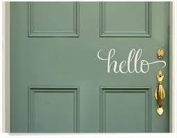 Hello Goodbye Door Decal Roblox Dementia Maker Wall Art Ireland For Cars Front Big Uk Vamosrayos