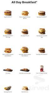 McDonald's menu in Glen Allen, Virginia, USA