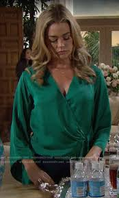 WornOnTV: Shauna's green wrap blouse on The Bold and the Beautiful ...