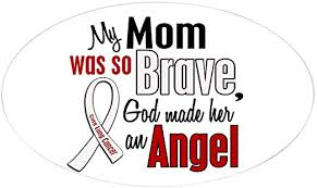 Amazon Com Cafepress Angel 1 Mom Lung Cancer Oval Sticker Oval Bumper Sticker Euro Oval Car Decal Home Kitchen