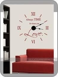 Wall Clock Vinyl Decal And Mechanism Kit By Delicateexpressions Wall Clock Kits Diy Clock Wall Wall Clock Design