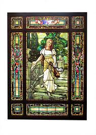 stained glass beveled glass wooden