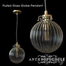 anthropologie fluted glass globe pendant