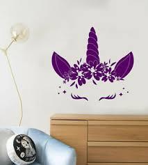 Vinyl Wall Decal Cartoon Cute Unicorn Horn Baby Room Decor Stickers 3769ig Ebay