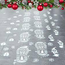 Colonel Pickles Novelties Santa Footprints 90 Ct Footprint Floor Stickers Kit With Reindeer Elf Toys