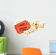 Popcorn Movie Tickets Wall Decal Wallmonkeys Com
