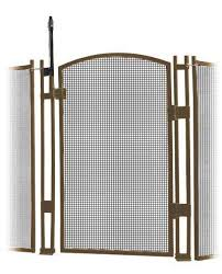 Visiguard Self Closing Latching Pool Fence Child Safety Gate Brown 4 Tall Diypoolfence Com