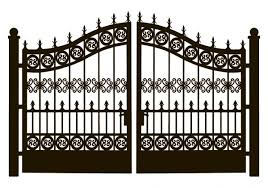 ᐈ Wrought Iron Fence Designs Stock Vectors Royalty Free Forged Iron Gate Backgrounds Download On Depositphotos