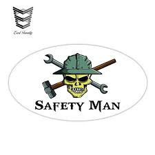 Earlfamily 13cm X 7 2cm Safety Man Skull Hard Hat Tools Hammer Wrench Tool Frac It Decal Car Truck Window Bumper Car Stickers Car Stickers Aliexpress
