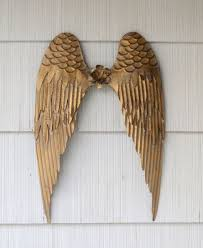 wall decor metal angel wings angel