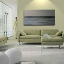 seascape painting grey ocean art