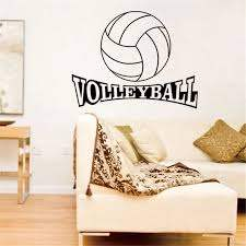 Volleyball Vinyl Wall Decal Stickers For Kids Sport Boy Rooms Bedroom Art Wall Home Decor Wallpaper Wall Decals Stickers Stickers Fordecal Sticker Aliexpress