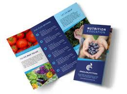 nutrition brochure templates