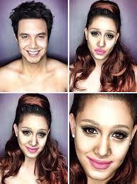 guy uses makeup to transform himself