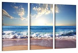 ardemy canvas wall art sea wave beach