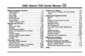 2008 saturn vue owners manual just