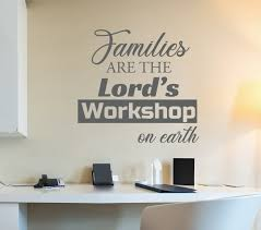 Vinyl Wall Decal Family God Religion Inspiring Quote Words Stickers Mu Wallstickers4you