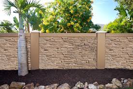 New Texture For Precast Concrete Fence Walls With Stacked Stone Concrete Fencing For Texas Concrete Fence Wall Concrete Fence Fence Design