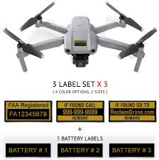 Amazon Com Mavic Air 2 Dji Drone Labels 3 Sets Of 3 Customized 2 Sizes 4 Color Options 3 To 12 Battery Labels Office Products