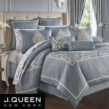 aurora scroll slate blue comforter