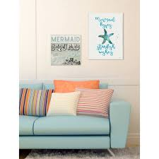Shop Stupell Mermaid Kisses Starfish Wishes Plaque Wall Art Overstock 14661057
