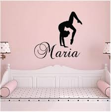 Amazon Com Xjpgkd Girl Name Decal Gymnastics Wall Nursery Vinyl Stickers Dance Studio Quote For Kids Rooms Living Poster 40 X 39 Cm Kitchen Dining
