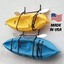 Amazon Com Webbing Boat Hanger Strap Set Of 2 Kayak Wall Hanger Sup Wall Hanger Kayak Hanger Canoe Hanger Surfboard Hanger Garage Hanger Kayak Wall Rack Hanger Adjustable Kayaks Sports Outdoors
