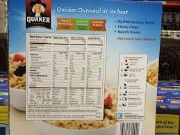 costco 934299 quaker instant oatmeal