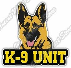 K 9 Unit Us Army Police Dog German Shepherd Car Bumper Vinyl Sticker Decal 4 X5 Ebay