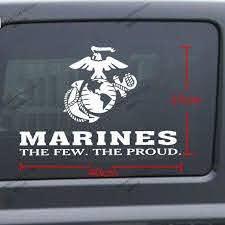 40 27cm United States Marine Corps Marines Usmc Few Proud Car Decal Sticker For Jeep Etc Car Decal Sticker Decal Stickercar Decal Aliexpress