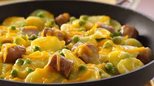 hot dog and potato dinner recipe