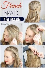 how to hair tutorial french braid tie
