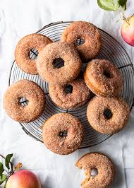 homemade baked apple donuts with