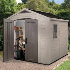 keter factor plastic garden shed 8x8