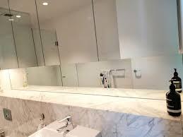 bathroom mirrors frameless shower