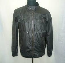 cotton black er jacket size