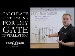 How To Calculate Post Spacing For Diy Iron And Aluminum Gate Installation Youtube