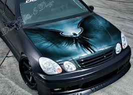 Black Angel Car Hood Wrap Decal Vinyl Sticker Full Color Graphic Fit Any Car Ebay