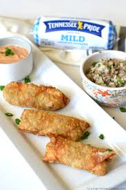 cajun dirty rice egg rolls with creole