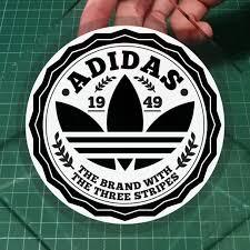 Adidas The Brand With The Three Stripes Adolf Dassler Retro Original Removable Static Cling Car Decals