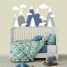 Shop Pastel Mountain Wall Decal Baby Boy Room Overstock 32138187