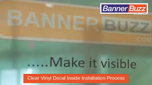 Clear Vinyl Decal Inside Installation Process Youtube