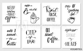 hand drawn vector graphic ink posters or cards collection set